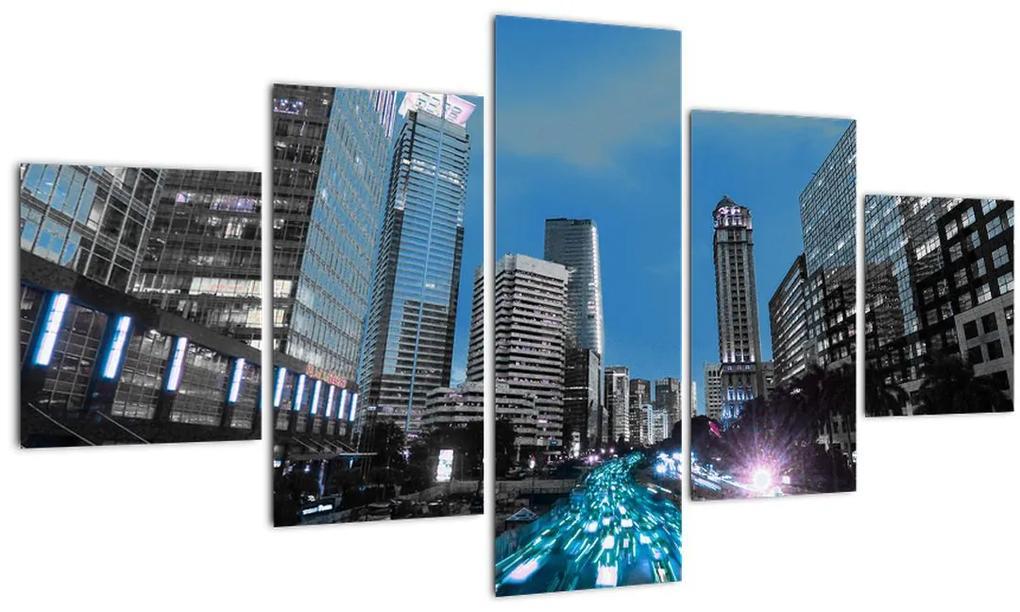 Obraz nočného mesta (125x70 cm), 40 ďalších rozmerov