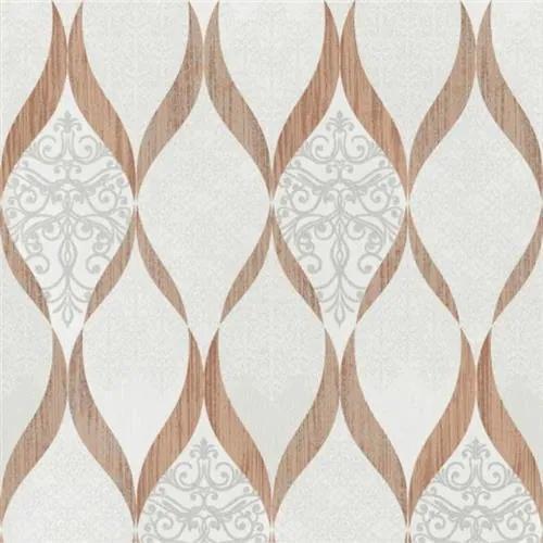 Luxusné vliesové tapety na stenu G.M.Kretschmer Deluxe 41006-30, kašmírový vzor medeno-krémový, rozmer 10,05 m x 0,53 m, P+S International