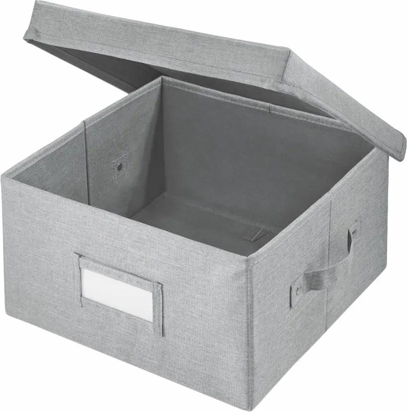 Sivý úložný bo× iDesign Codi, 33 × 29,8 cm