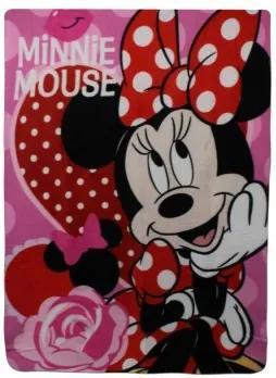 Setino - Detská fleecová deka Minnie Mouse - Disney - 140 x 100 cm