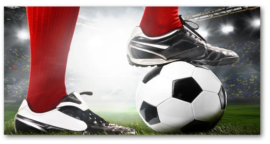 Foto obraz akrylový Nohy futbalistu pl-oa-140x70-f-64594715
