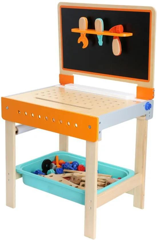 Set detského dreveného pracovného stola s kriedovou tabuľou Legler Workbench