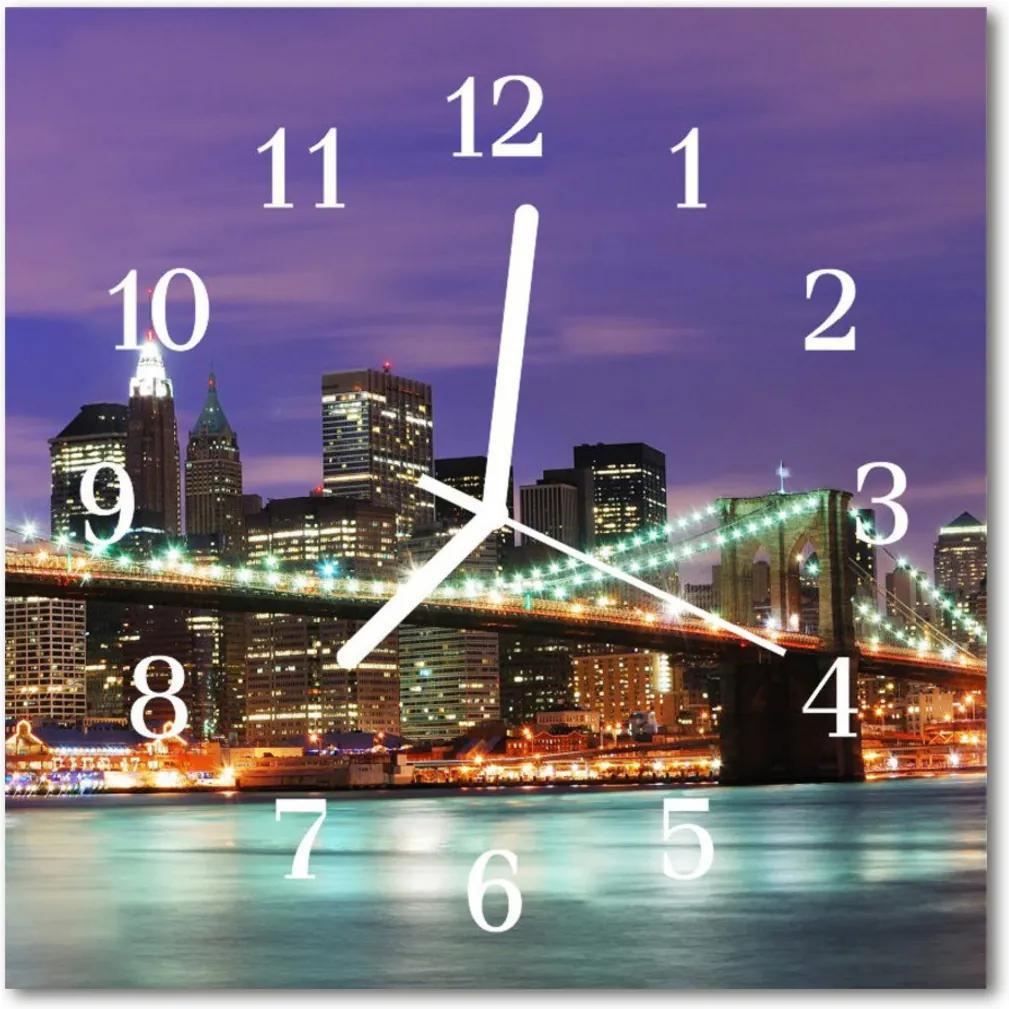 Skleněné hodiny čtvercové Skyline mostu