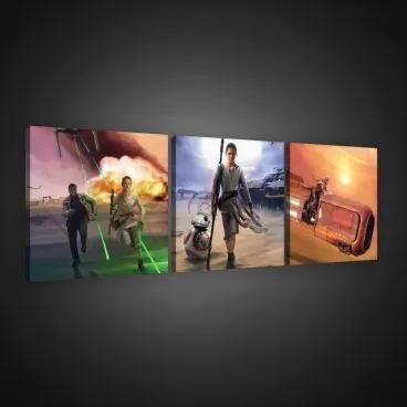 Obraz na plátne viacdielny - OB2596 - Star Wars 75cm x 25cm - S13