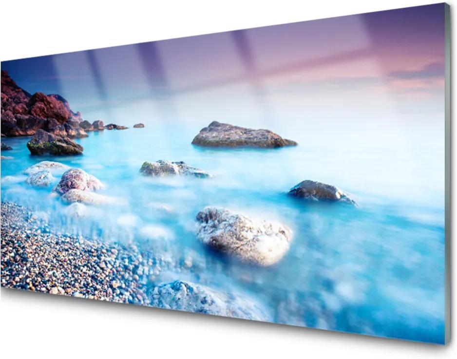 Obraz na skle More Kamene Krajina