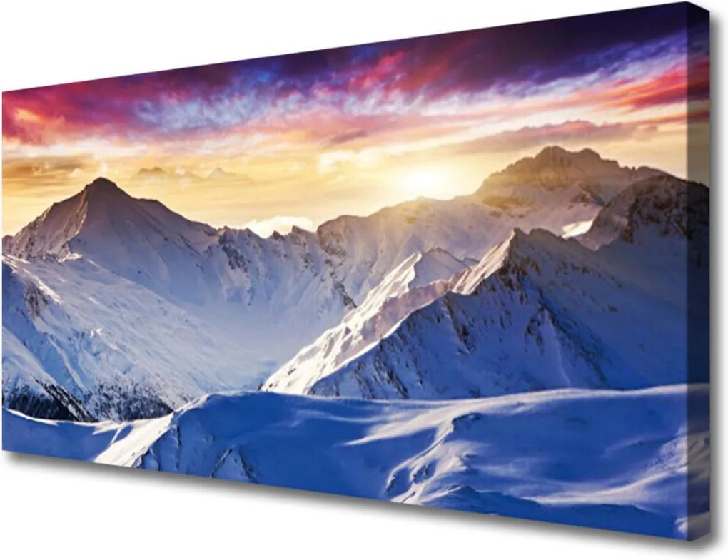 Obraz Canvas Hory sníh krajina