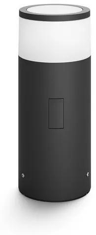 Philips 17423/30/P7 Hue Calla VONKAJŠIE STĹPIKOVÉ svietidlo LED 8W 640lm 2200-6500K IP44, černá + adaptér