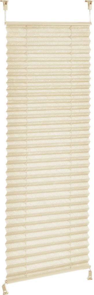 [neu.haus]® Harmoniková Plisse roleta - 40x150 cm - krémová - ochrana pred slnkom a svetlom - tienenie - bez vŕtania