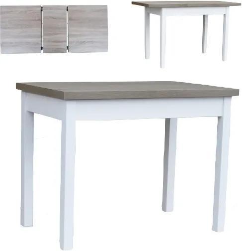 Kvalitný rozkladací jedálenský stôl 140 x 80 cm - Černá struktura