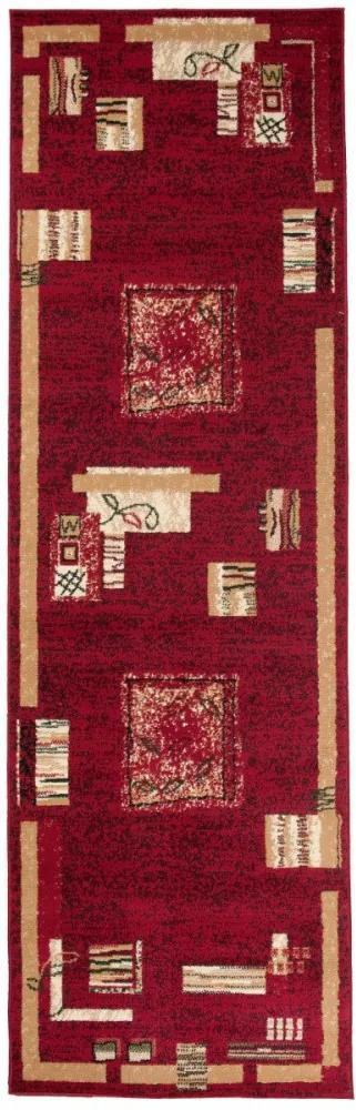 Kusový koberec PP Forme červený atyp, Velikosti 70x250cm