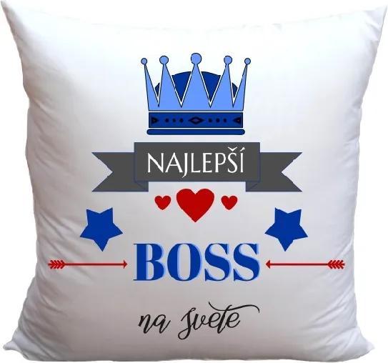 Vankúš Najlepší Boss (Veľkosť: 40 x 40 cm)