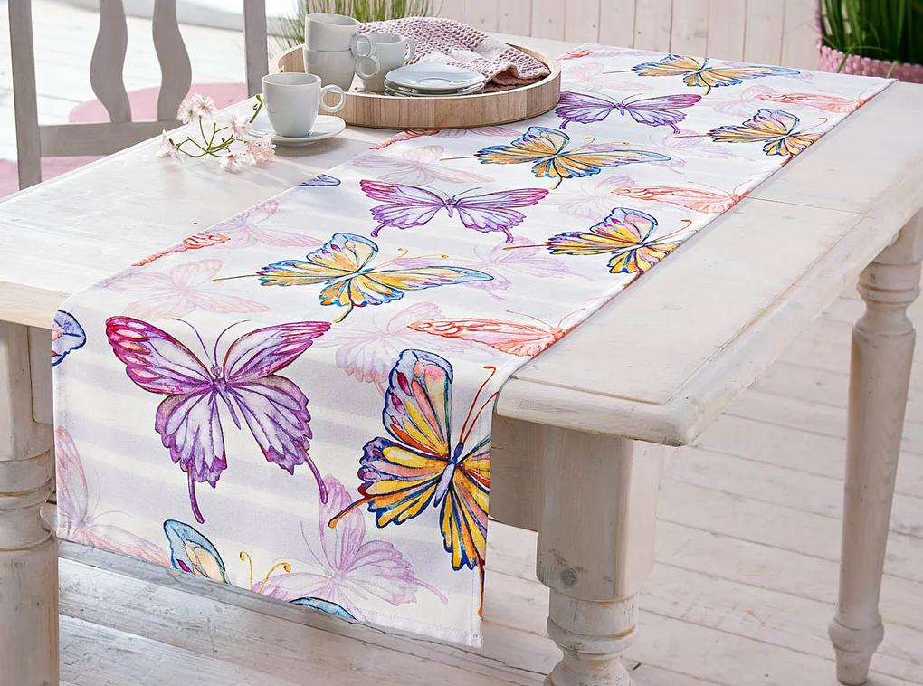 Behúň na stôl Motýle