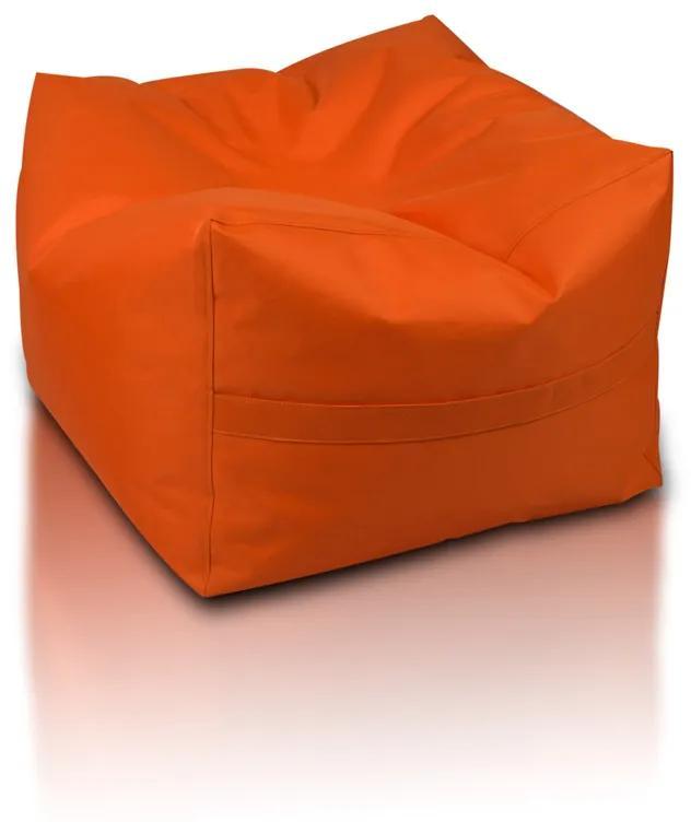 INTERMEDIC Sedací vak Taburetka CUBO, Polyester - NC09 - Oranžová pomaranč (Polyester)
