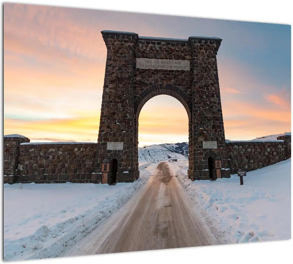 Obraz brány, Yellowstone (70x50 cm), 40 ďalších rozmerov