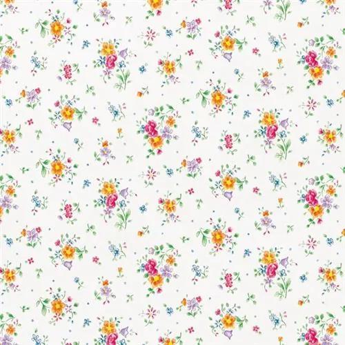 Samolepiace fólie kvety na bielom podkladu, metráž, šírka 45cm, návin 15m, d-c-fix 200-2494, samolepiace tapety