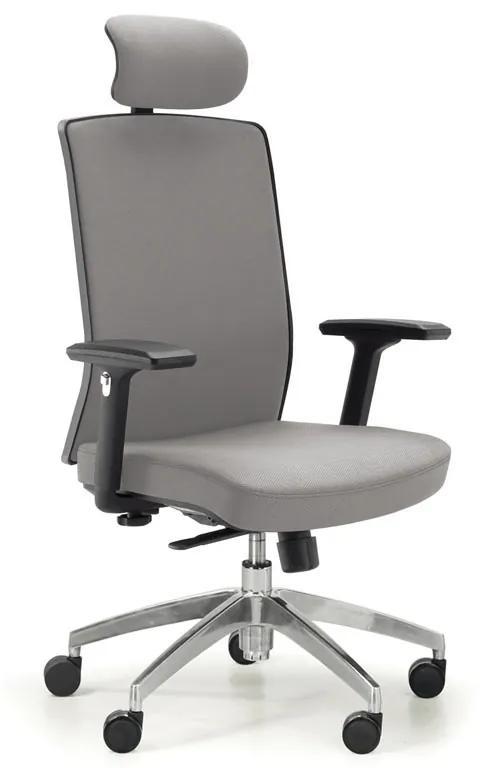 Kancelárska stolička Alta F, sivá