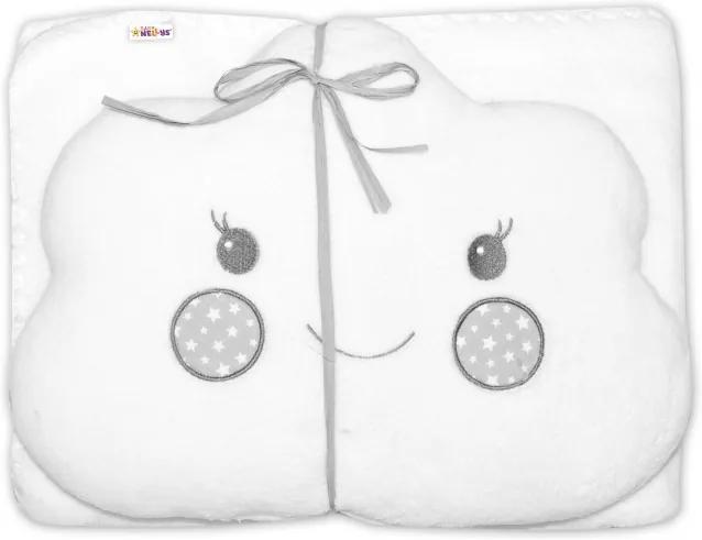 Detská sada deka + vankúšik Mráček Baby Nellys ® - biela