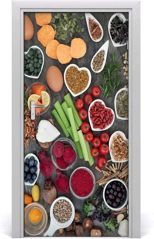 Fototapeta na dveře samolepící Zdravá strava