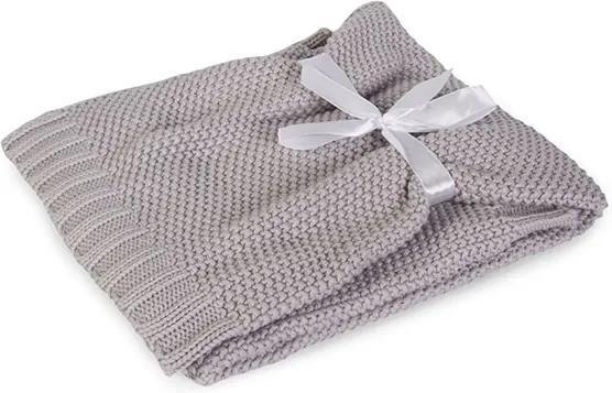 Pletená detská deka Tully sivá seda