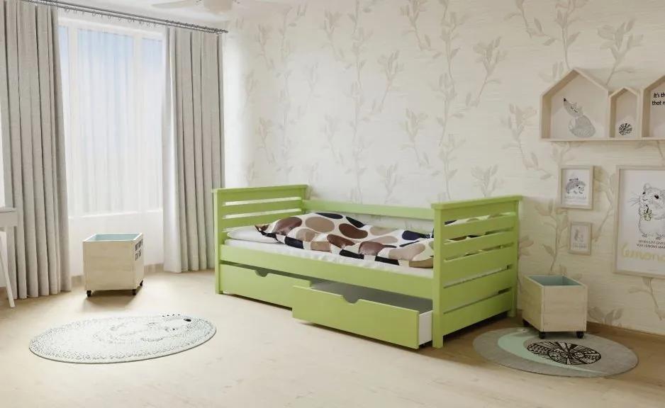 MAXMAX Detská posteľ z masívu 200x80cm bez šuplíku - M03
