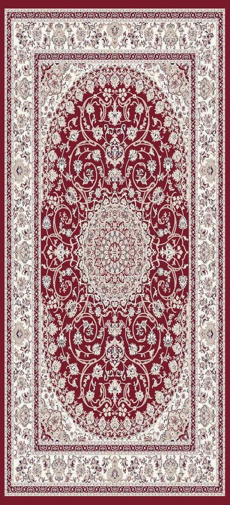 Festival koberce Kusový koberec Silkway X084B Red - 80x150 cm