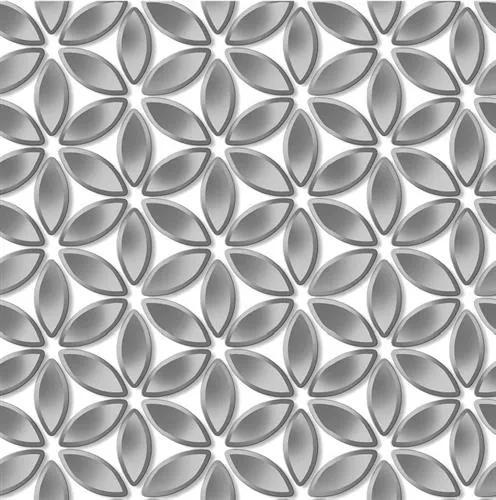 Vliesové tapety na stenu  Hexagone L52219, rozmer 10,05 m x 0,53 m, kvety strieborné, Ugépa