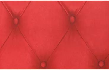 Perforovaná samolepiaca fólia 12654 Chesterfield fólia červená 90cm x 2,5m
