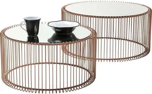 KARE DESIGN Konferenčný stolík Wire Copper (2 / Set)