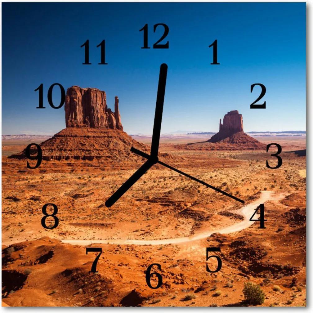 Nástenné skleněné hodiny divokost