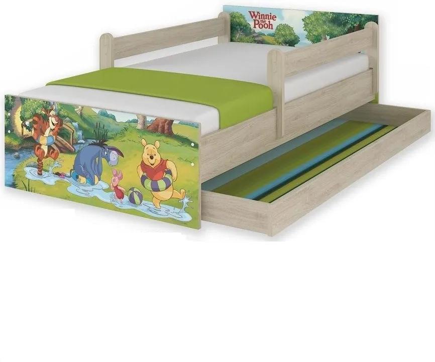 MAXMAX Detská posteľ MAX so zásuvkou Disney - MACKO PÚ II 180x90 cm 180x90 pre dievča pre chlapca pre všetkých ÁNO