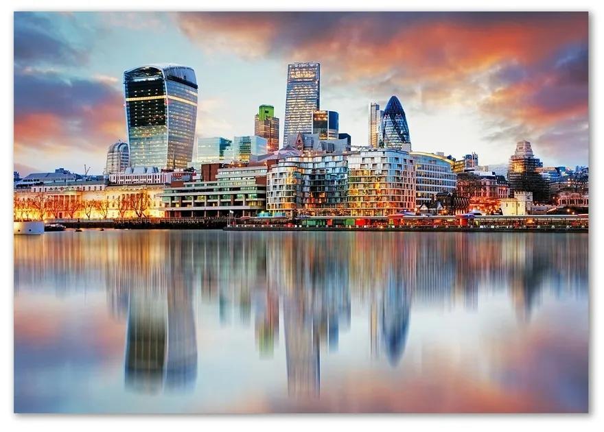 Foto obraz fotografie na skle Panorama Londýnu pl-osh-100x70-f-81491444