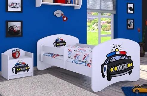 MAXMAX Detská posteľ bez šuplíku 140x70cm POLÍCIA 140x70 pre chlapca NIE čierna multicolor