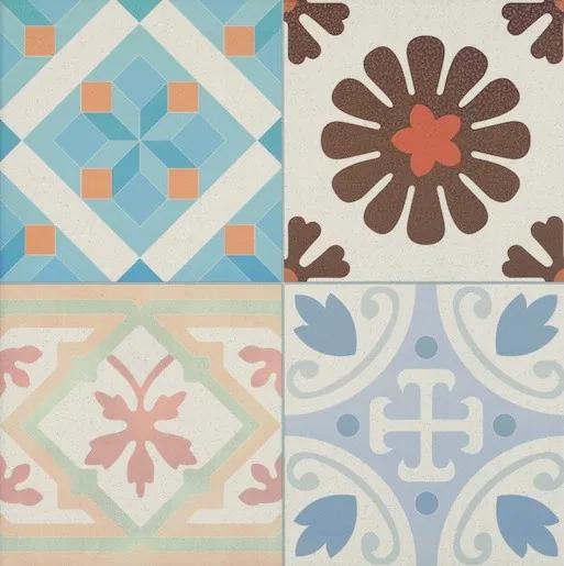 Dlažba Realonda Patchwork multicolor 44x44 cm mat PATCH44