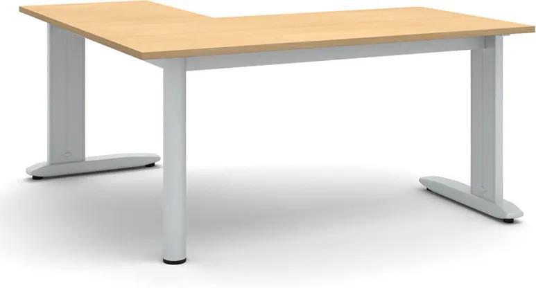 Kancelársky stôl Flexible L 1600 x 1600 mm, buk