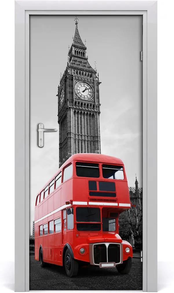 Fototapeta samolepící dveře Londýnský autobus