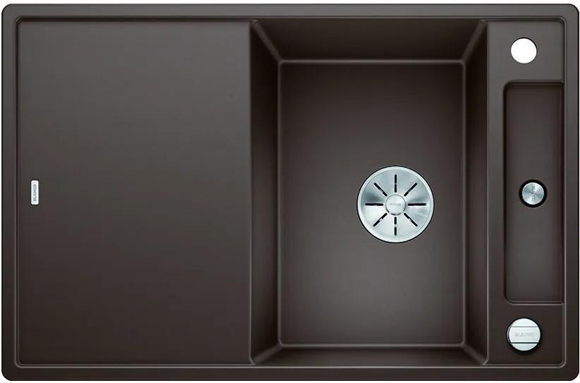 Granitový kuchynský drez - Blanco AXIA III 45 S kávová s excentrom + sklenená doska na krájanie 523192