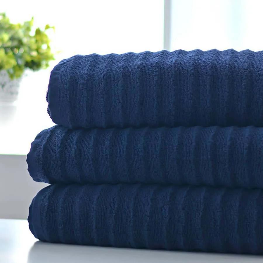 XPOSE ® Froté ručník LINEA EXCLUSIVE - tmavě modrá 50x90