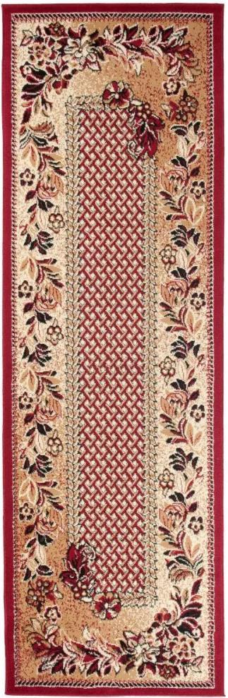 Kusový koberec PP Květiny hnědý atyp, Velikosti 70x200cm