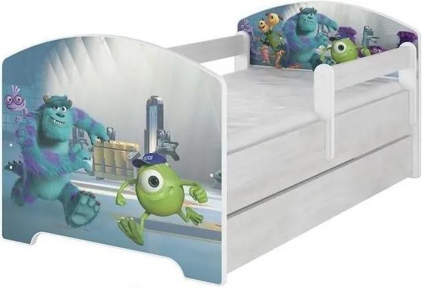 MAXMAX Detská posteľ so zásuvkou Disney - PRÍŠERKY sro 140x70 cm 140x70 pre dievča|pre chlapca|pre všetkých ÁNO