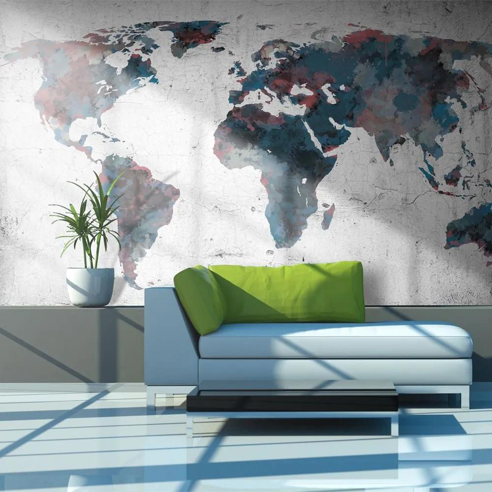 Fototapeta - World map on the wall 450x270