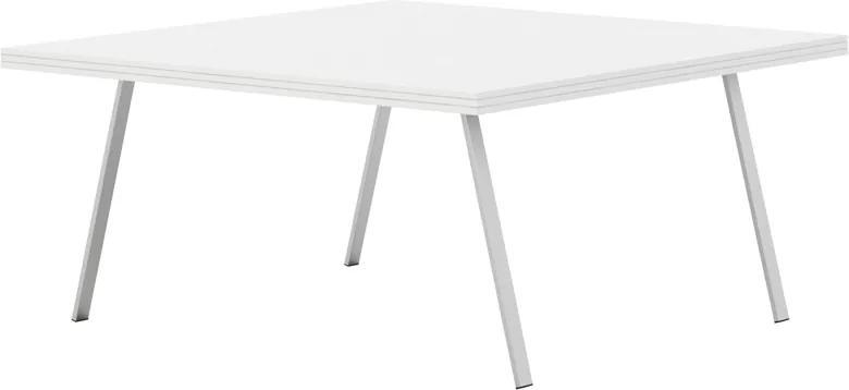 Rokovací stôl White LAYERS biela 1600 1600 750 LAYERS