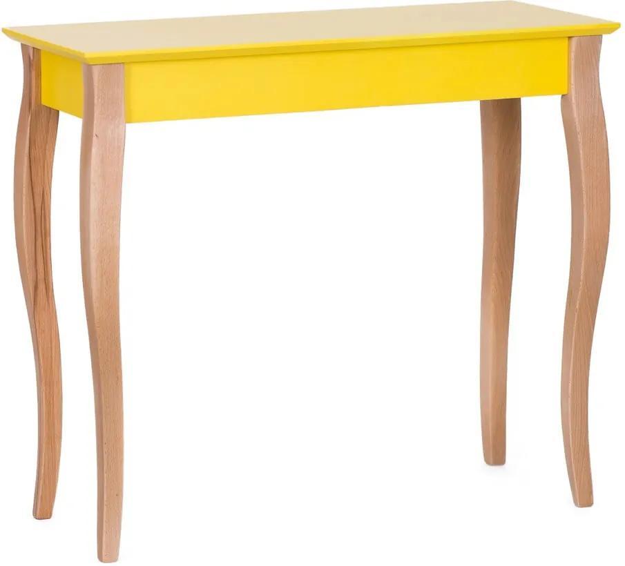 Žltý odkladací stolík Ragaba Console, dĺžka 85 cm