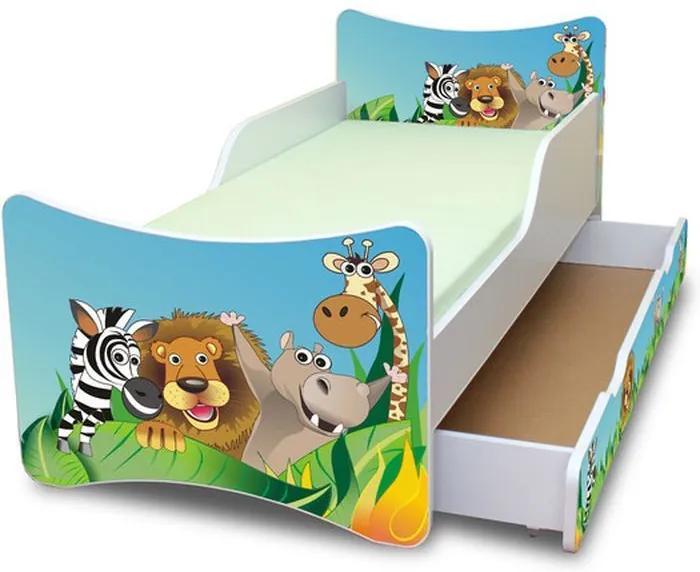 MAXMAX Detská posteľ so zásuvkou 160x80 cm - ZOO 160x80 pre všetkých ÁNO