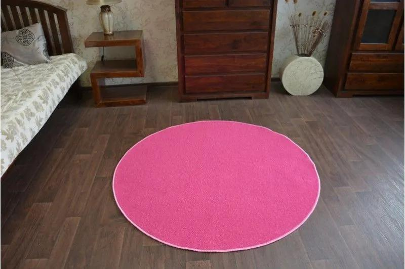 MAXMAX Okrúhly koberec RUŽOVÝ