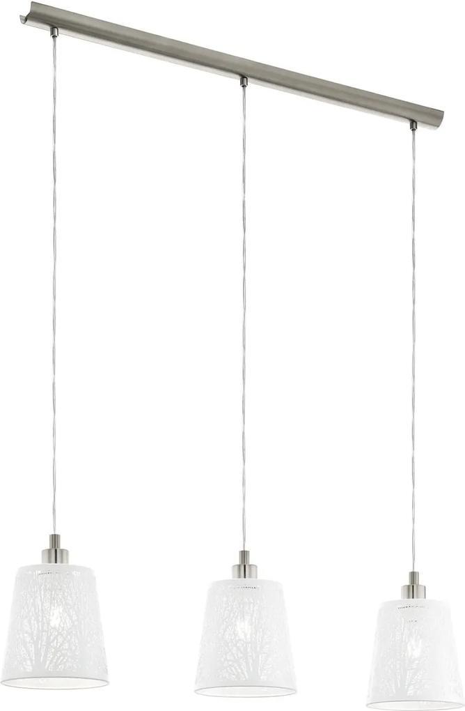 Moderné svietidlo EGLO HAMBLETON biela / nikel 49614