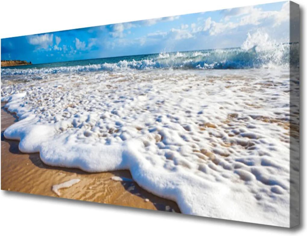 Obraz na plátně Pláž moře pisek příroda