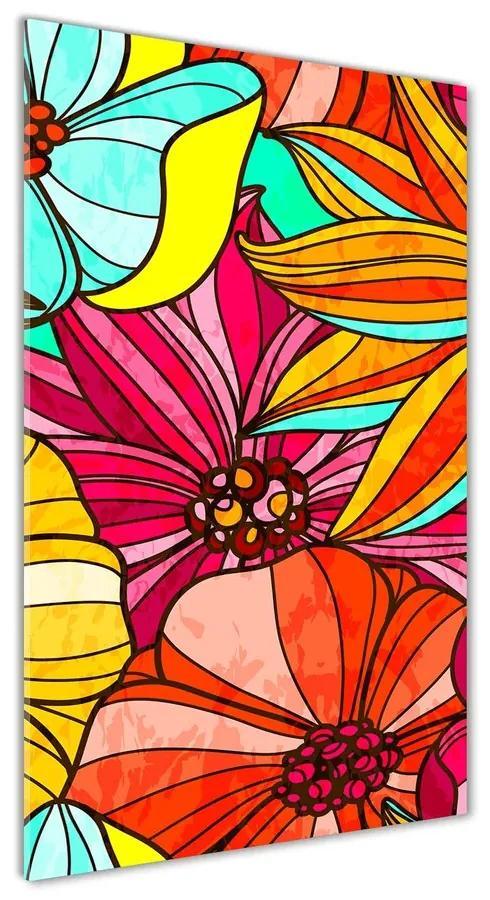 Foto obraz akrylové sklo Farebné kvety pl-oa-70x140-f-82476713