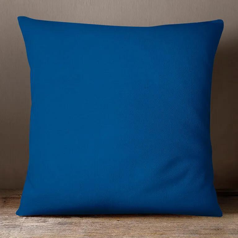 Goldea bavlnená obliečka na vankúš - kráľovsky modrá 70 x 90 cm