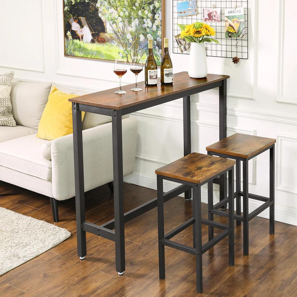 Zostava barový stôl a dve stoličky LBT rustic II