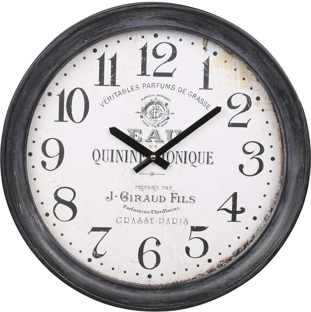 Chic Antique Nástenné hodiny Antique Black 43 cm